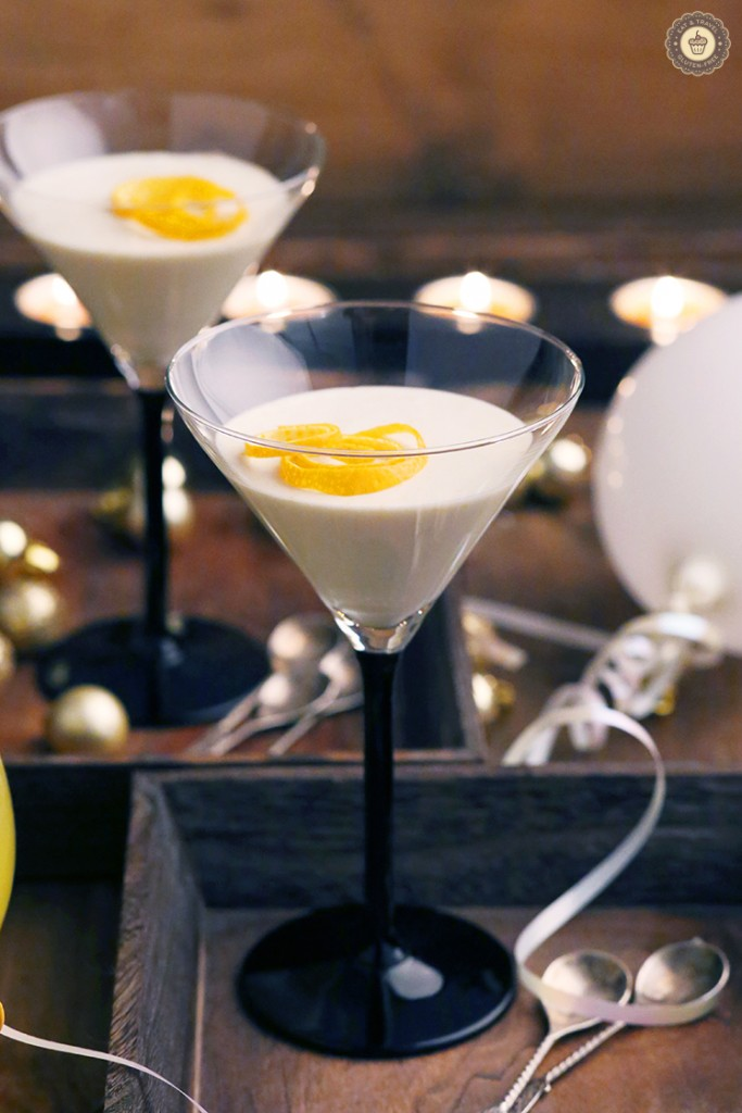 Orange Coconut panna cotta